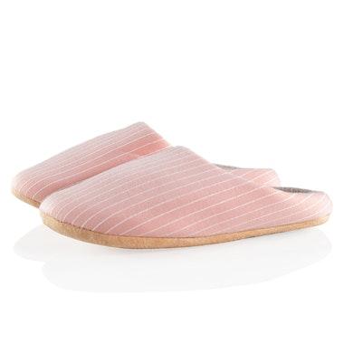 Randiga tofflor (rosa)