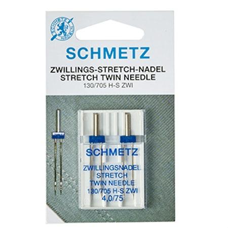 Schmetz tvillingnål stretch 2st