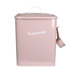 Plåtburk Gladys Tvättmedel rosa