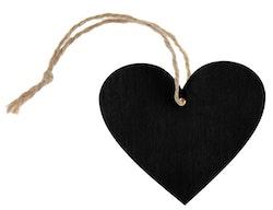 Svart hjärta etikett