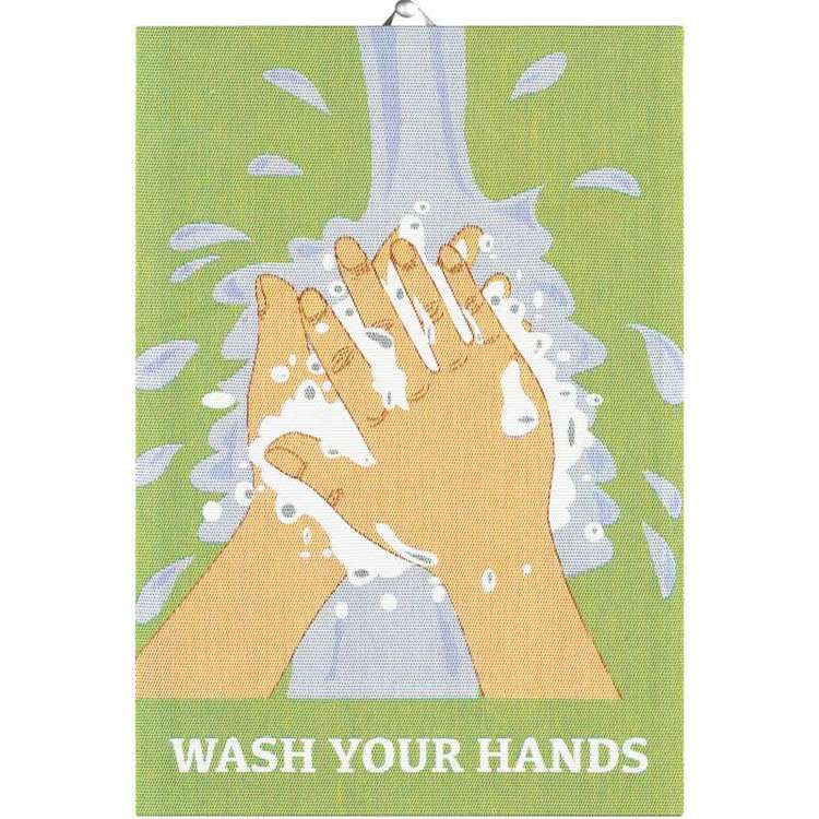 Handduk WASH  YOUR HANDS