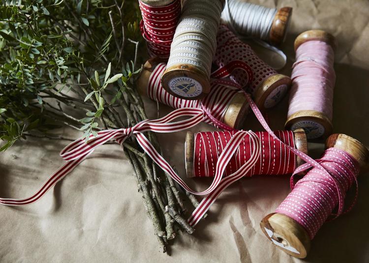 Textilband Söm Sand/Vit