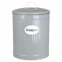 Plåtburk Hugo Kompost Grön