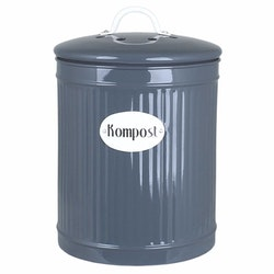 Plåtburk Hugo Kompost Blå