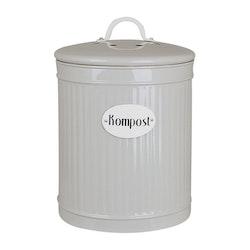 Plåtburk Hugo Kompost Beige