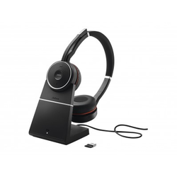 JABRA EVOLVE 75 UC STEREO INCL. CHARGE STAND & LINK 370