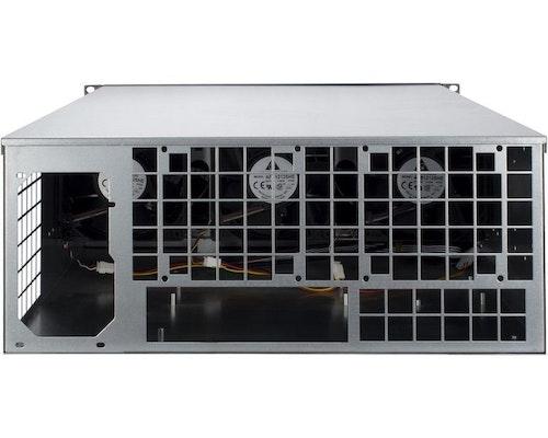 "Inter-Tech 4W2 - 19"" 4U rackmonterbart chassi för 8GPU och 1PSU - mining"