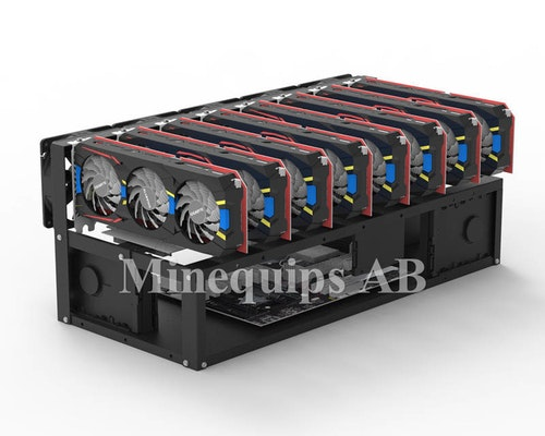 MEQ8Open - Chassi för 8 GPU mining med maximal värmeavledning.