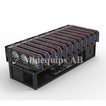 MEQ12Open - Chassi för 12 GPU och 2PSU med maximal värmeavledning.