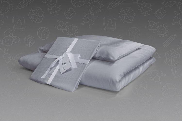 Satin Purity Silver - Komplett set spjälsäng