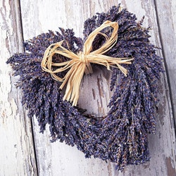 Lavendelhjerte servietter