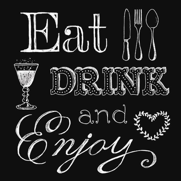 Eat, drink and enjoy servietter