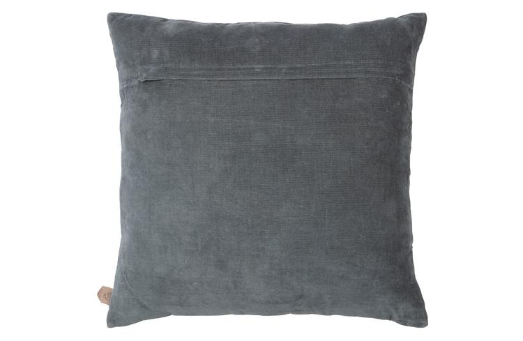 Contact fløyelkord pute, grå