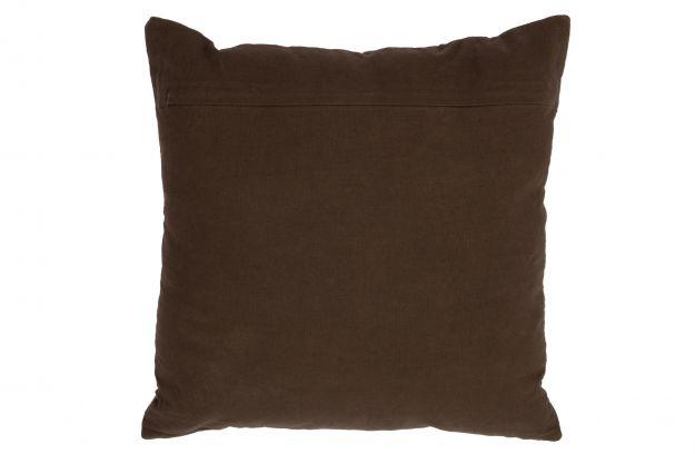Stroke fløyelspute, brun