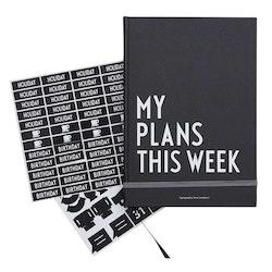 """Design Letters Ukeplanlegger """"My week"""""""