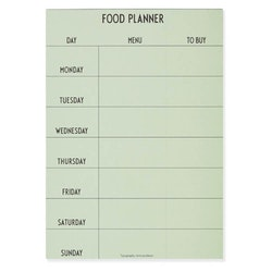 "Design Letters  ""Food planner"", grønn"