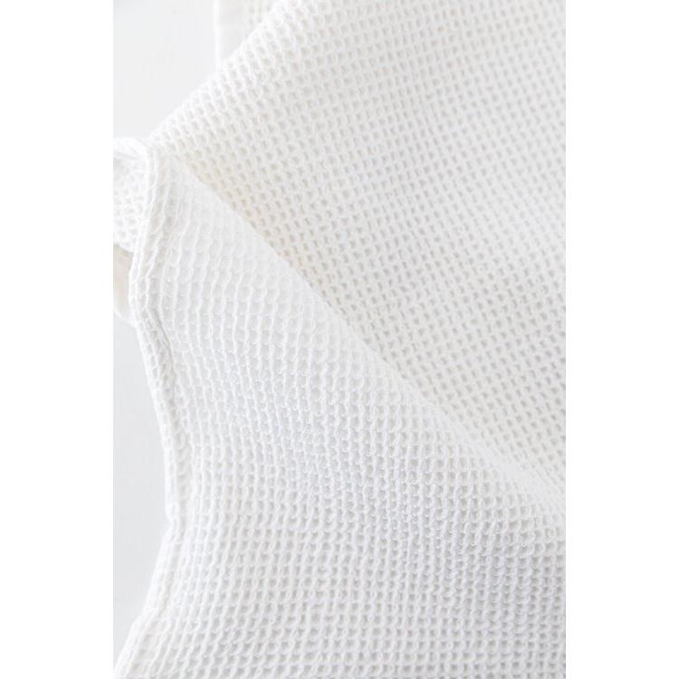 Waffle håndkle, hvit
