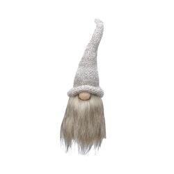 Nisse med skjegg, 50 cm. Hvit