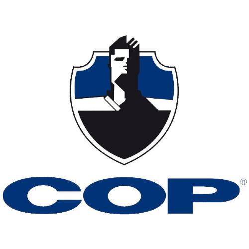COP Handfängselhölster i svart läder