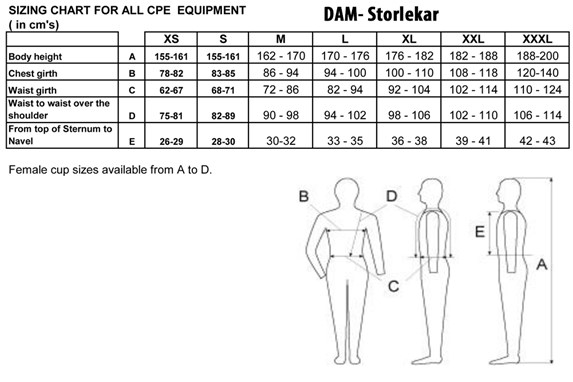 CPE Skyddsväst BYA G1/RPS2 + K1/KR1 – Dam