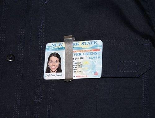 ZAK TOOL ZT98 Taktisk ID-kortshållare med dold fängselnyckel
