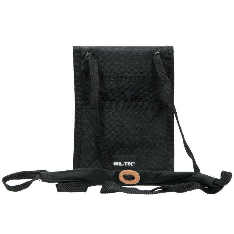 MIL-TEC by STURM NECK WALLET - BLACK