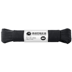 ROTHCO 550lb Polyester Paracord 100ft - Black