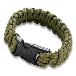 CRKT Paracord Armband Med Vajersåg - Olivgrön