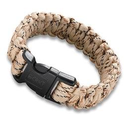 CRKT Paracord Armband Med Vajersåg - Tan