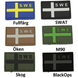SWE Svensk PVC flagga - Flera färger