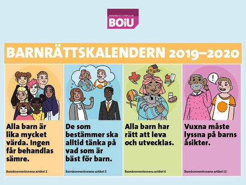 Bästa barnrättskalendern sep 2019-aug 2020