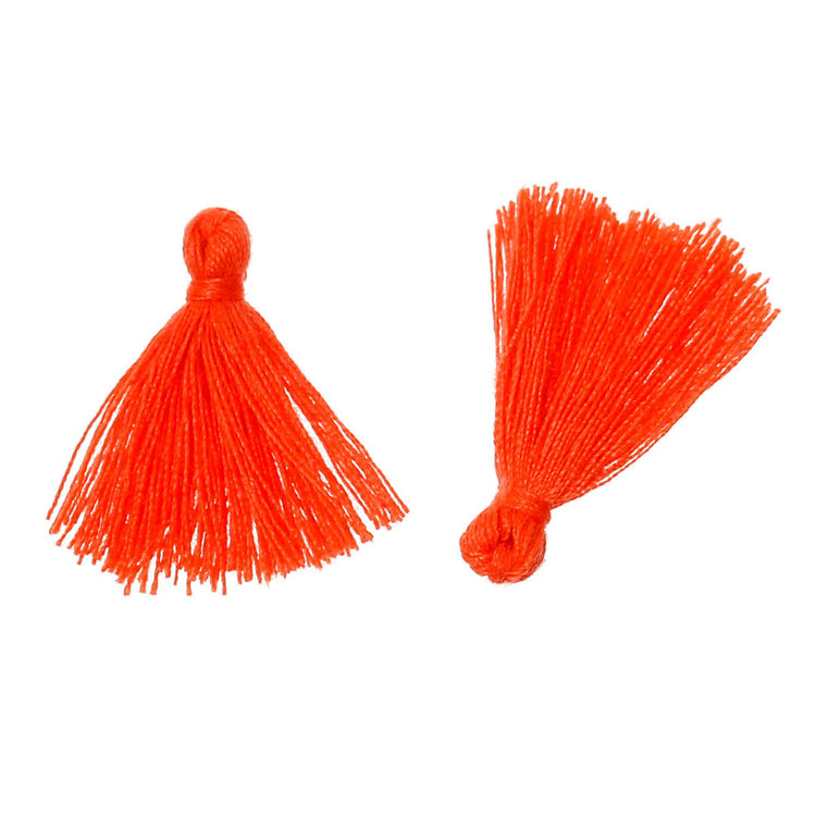 Små söta tassel orange 50-pack