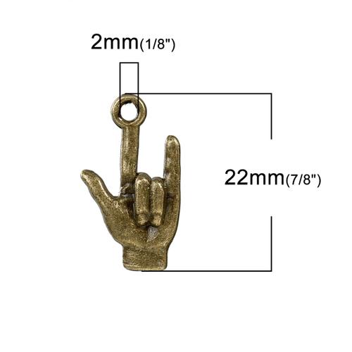 ROCKHAND antik bronsfärgad 10-pack