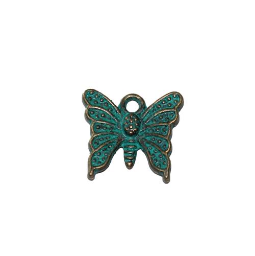 Fjäril grönturkos / bronsfärgade 2-pack