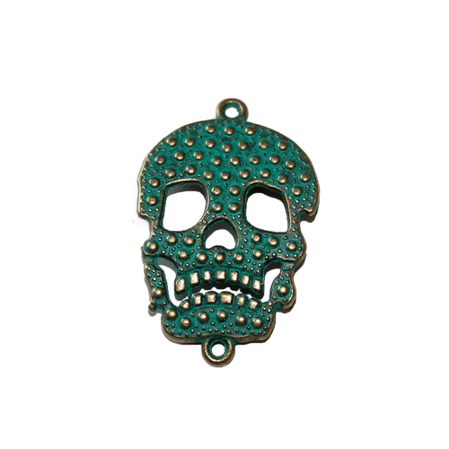Döskalle connector grön / bronsfärgad