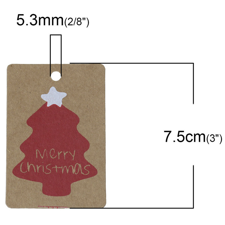 MERRY CHRISTMAS TAGS 50-PACK