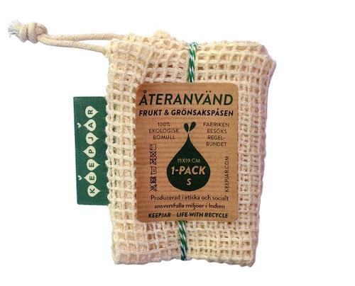 Nätpåse Small, 100% Ekologisk bomull, EUKJ1011