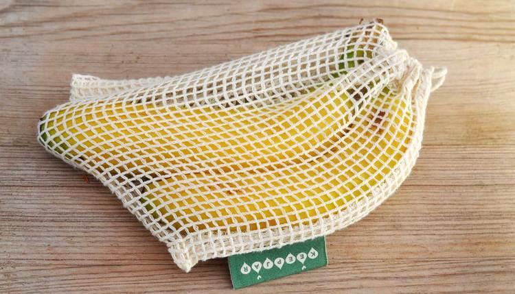 Nätpåse Small, 100% Ekologisk bomull, 2-pack