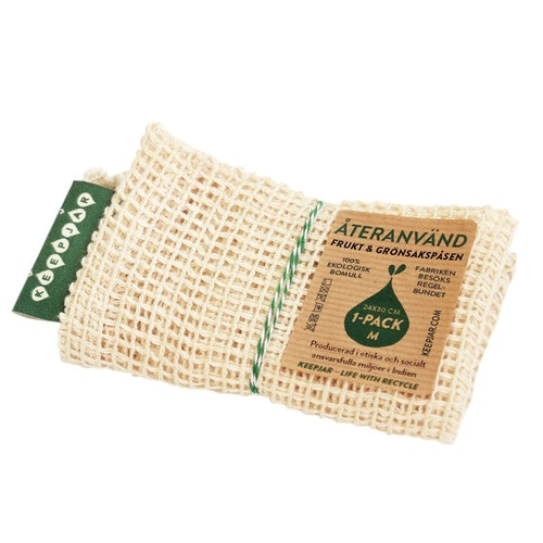 Nätpåse Medium, 100% Ekologisk bomull, 1st, ekologisk GOTS certifierad bomull