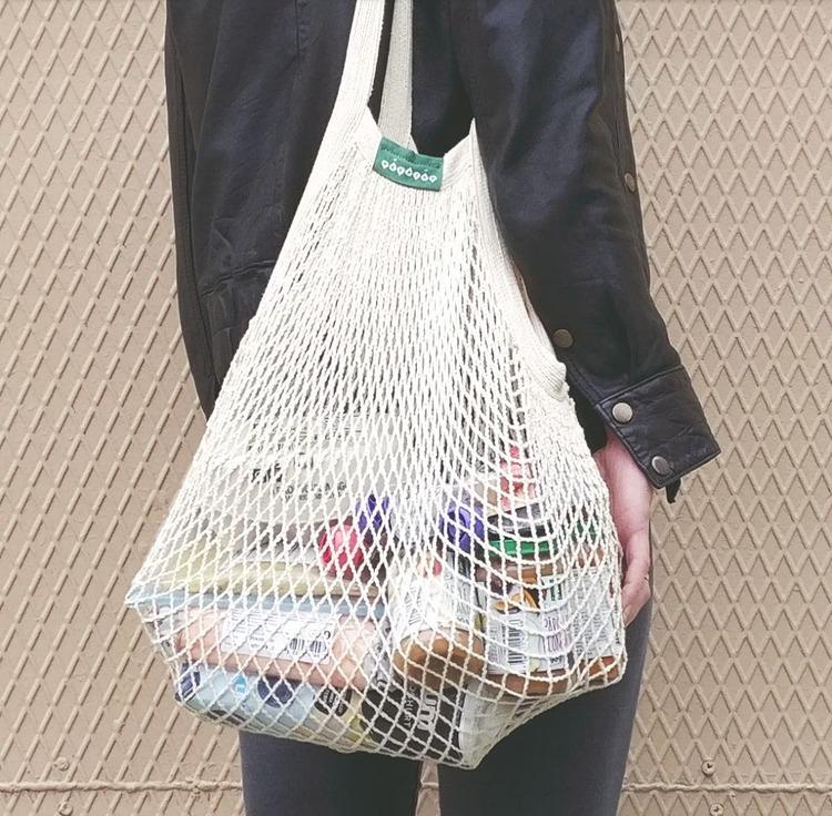 Zero waste presentpaket, mediumpaketet, långa handtag