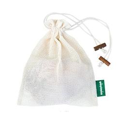 Tvättpåse med dragsko, ekologisk certifierad bomull, M 1st, EUKJ1039