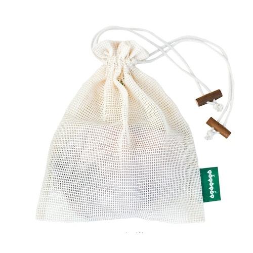 Tvättpåse med dragsko, ekologisk GOTS certifierad bomull, M 1st