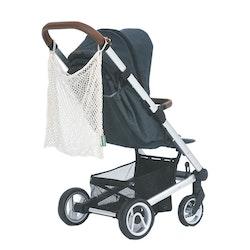 Nätkasse för barnvagn, ekologisk GOTS certifierad bomull