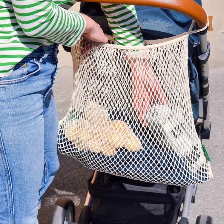 Nätkasse för barnvagn, ekologisk certifierad bomull, EUKJ1035