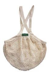 Nätkasse med långa handtag, 100 % ekologisk GOTS certifierad bomull, EUKJ1015
