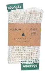 Nätpåse Large, 100% Ekologisk bomull, 2st, ekologiskt certifierad bomull, EUKJ1031