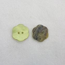 Pärlemoknapp Blomma (grön)