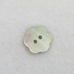 Pärlemoknapp Blomma (vit)