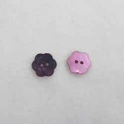 Pärlemoknapp Blomma (rosa)