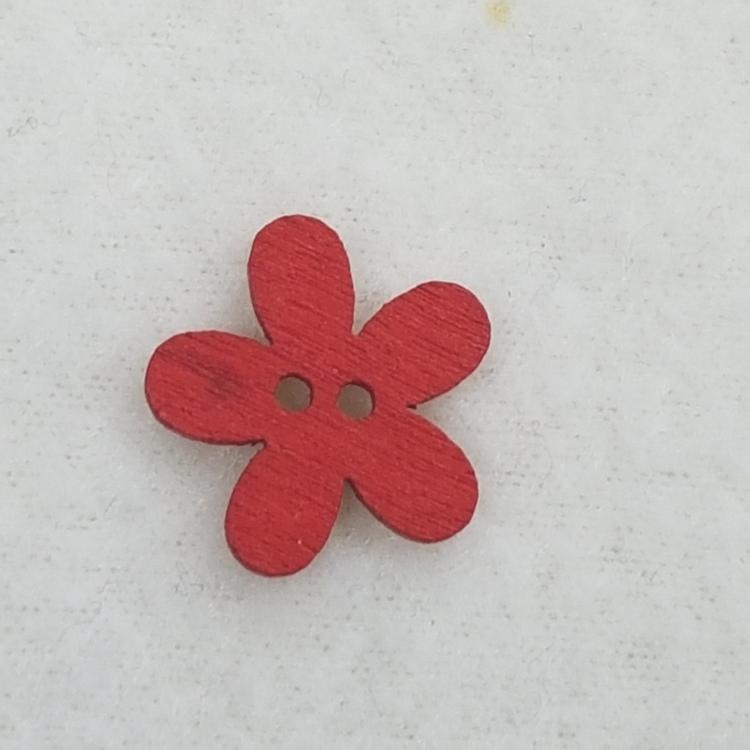 Träknapp Blomma
